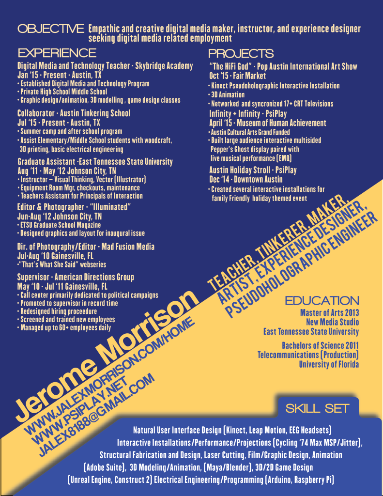 Jerome Morrison Resume 2015